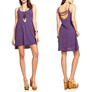 Chaser Purple Empire Mini Dress with Open Back